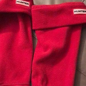 Hunter Brand boot socks classic true red color
